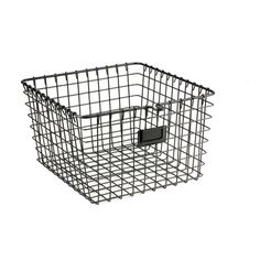 Features:  -Perfect storage solution for any room in the home.  -Open design lets you easily view everything in the basket.  -Sturdy steel construction.  Product Type: -Basket.  Quantity: -Individual.