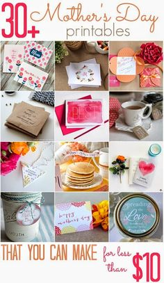All Cheap Crafts: 30+ Mother's day printables