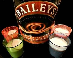 Shots and Shooters are the most popular party additions for any adult fiesta. Here are some of my favorite shot recipes and the glasses that go with them. Shots and shooters made with alcohol are. Layered Drinks, Mixed Drinks, Baileys Irish Cream Coffee, Baileys Original, Shot Recipes, Drink Recipes, Yummy Drinks, Yummy Shots, Jello Shots