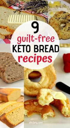 9 Satisfying Keto Bread Recipes That ACTUALLY Taste Good! No more of that yucky egg taste when eating keto bread. These super easy and delicious low carb bread recipes are made with almond flour & coconut flour and taste just as good as store bought Easy Keto Bread Recipe, Keto Mug Bread, Keto Banana Bread, Best Keto Bread, Healthy Bread Recipes, Lowest Carb Bread Recipe, Low Carb Bread, Easy Cake Recipes, Keto Recipes