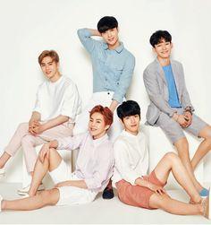Suho, Lay, Suho, Xiumin and Baekhyun