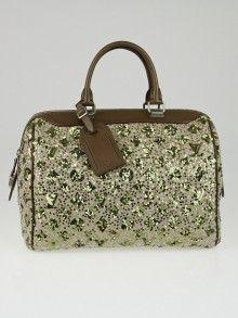 1ce6b54adf8a Louis Vuitton Limited Edition Khaki Monogram Sunshine Express Speedy Bag  Luxury Handbags