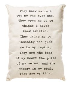 Look what I found on #zulily! 'They Are My Kids' Throw Pillow #zulilyfinds