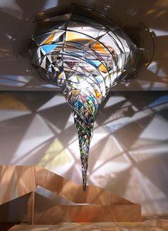 Mesmerizing Kaleidoscopic Glass Installations by Olafur Eliasson Sculpture art Olafur Eliasson, Icelandic Artists, Instalation Art, Glass Installation, Fabric Installation, Art Installations, Fused Glass Art, Stained Glass, Light Art