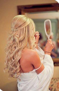 penteado casamento semi preso com cachos tiara - Pesquisa Google