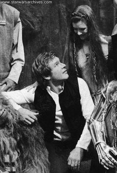 Han and Leia sharing a moment in Return of the Jedi
