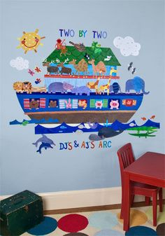 Noahs Ark Peel and Place Wall Mural - Wall Sticker Outlet