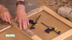 Birch Bark Frames Videos | Crafts How to's and ideas | Martha Stewart