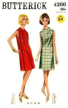 "Butterick 4266 Superb Mod ""Coat"" Dress ca. 1967"