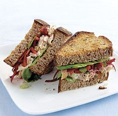 Brazilian Chicken Salad Sandwich: Packed with grated vegetables, sweet raisins, fresh lime juice, and cilantro--it's like no chicken salad sandwich you've had before. Via FineCooking