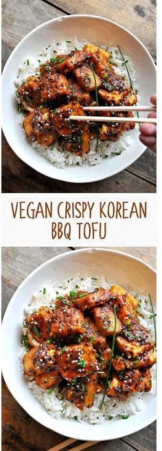 Ingredients 1 Extra firm tofu Cup Tomato sauce canned Cu. Korean Tofu Recipes, Vegan Korean Food, Firm Tofu Recipes, Asian Recipes, Vegetarian Recipes, Healthy Recipes, Ethnic Recipes, Beef Recipes, Easy Recipes