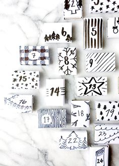 diy modern matchbox advent calendar