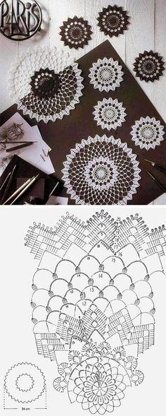 Crochet doily 20 free pattern