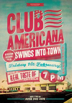 American Diner Style Graphic Design Poster by www.diagramdesign.co.uk