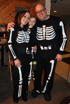how to make a pregnant skeleton costume