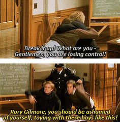 Ha! Funny Gilmore Girls scene at Yale!