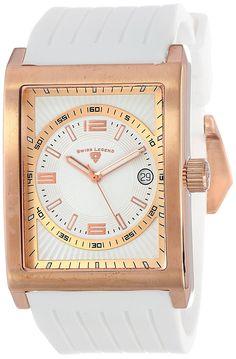 Swiss Legend Men's 40012-RG-02-WHT Limousine Analog Display Swiss Quartz Black Watch ** Read more at the image link.