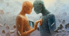 How to make a twin flame relationship work? Twin flames relationships are recklessly unpredictable. When the flames come to each other, their Relation D Aide, Twin Flame Relationship, Twin Souls, Soul Connection, In A Heartbeat, Reiki, Oil On Canvas, Finding Yourself, How Are You Feeling