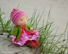 © TatiArt. Natural dolls and toys.: Лесная Гномочка, 20см Waldorf Dolls, Crochet Hats, Fashion, Knitting Hats, Moda, Fashion Styles, Fashion Illustrations