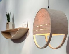 The Sunset Hanging Lamp And Shelf | The Best Wood Furniture