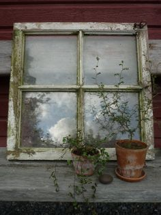 Vad kan man se i ett gammalt fönster?