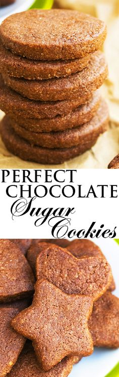 This easy CHOCOLATE SUGAR COOKIES recipe has the crispy texture of classic cut out sugar cookies but with a rich chocolate flavor. These cut out chocolate cookies are great for cookie decorating with royal icing and Christmas cookie exchange too. From cakewhiz.com