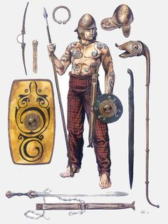 A Pictish Warrior and his armaments ready to raid south of the Wall..