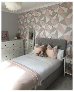 Bedroom Wall Designs, Room Design Bedroom, Room Ideas Bedroom, Home Room Design, Small Room Bedroom, Bed Design, Twin Room, Bed Headboard Design, Bed For Girls Room