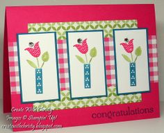 Stampin' Up! Brights Blossoms and Sweet Essentials - Christy Fulk, Stampin' Up! Demo
