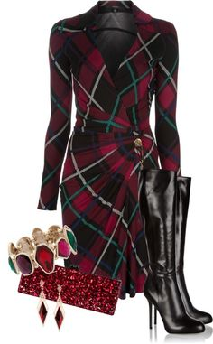 """""""Red & Green for the Holidays"""" by happygirljlc on Polyvore"""