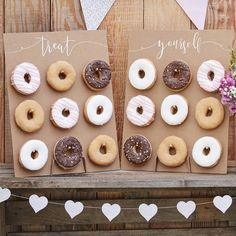 Treat Yourself Rustic Donut Wall Party Decoration//Doughnut. A Novel Rustic Party display for Birthdays, Baby Showers, Weddings or any celebration. Our 'Treat Yourself Donut Wall' is a wall of absolute dreams! #inspiredbyalma