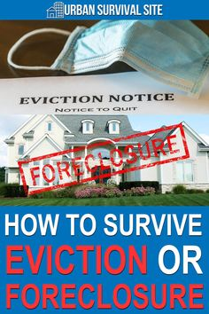 Because of this economic depression, millions of Americans could end up homeless due to eviction or foreclosure. Here's what to do if you're one of them. Urban Survival, Survival Life, Retirement Party Gifts, Eviction Notice, Water Purification, Natural Disasters, Emergency Preparedness, Being A Landlord