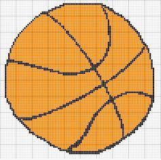 Free Cross Stitch Pattern - Angels Crochet - Basketball Chart