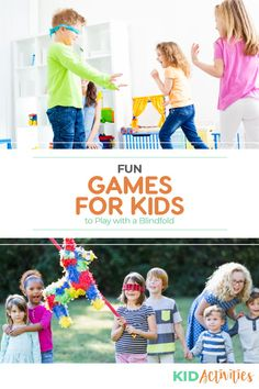 Find a collection of 15 fun blindfold games for kids. Blindfold games can be fun activities for birthday parties, classroom fun, or events where kids gather Outdoor Games For Kids, Fun Games For Kids, Games For Toddlers, Indoor Activities For Kids, Kid Activities, Educational Activities, Blindfold Games, Summer Party Games, Preschool Age