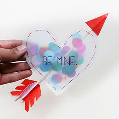 Confetti-Filled Hearts for Valentine's Day
