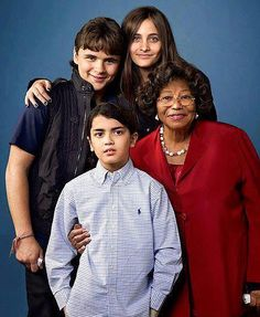<3 Michael's children with his mother.