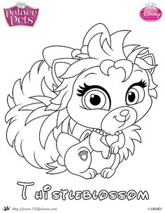 free palace pets coloring page of thistleblossom - Disney Palace Pets Coloring Pages