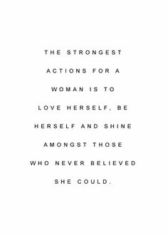 actions for a woman