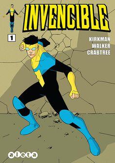 Portada del #Invencible Nº1 de Cory Walker. Edición española de Aleta Ediciones para la edición digital en #Koomic.