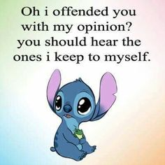 Funny True Quotes, Funny Relatable Memes, Cute Quotes, Funny Texts, Funny Minion Memes, Funny Disney Memes, Disney Quotes, Lilo And Stitch Memes, Stich Quotes