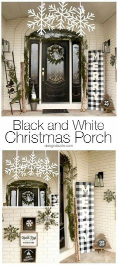 Are you looking for pictures for farmhouse christmas decor? Check this out for very best farmhouse christmas decor ideas. This unique farmhouse christmas decor ideas looks absolutely wonderful. Christmas Garden, Farmhouse Christmas Decor, Noel Christmas, Simple Christmas, Outdoor Christmas Decor Porches, Rustic Christmas, Primitive Christmas, Front Porch Ideas For Christmas, Red Black White Christmas