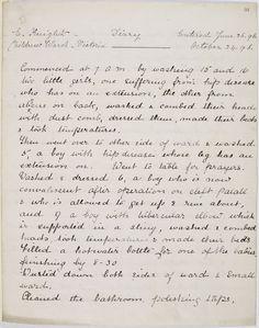 Diary of one of Florence Nightingale's trainee nurses, 1896