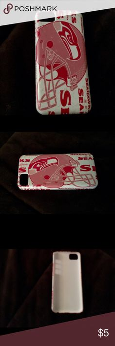 NFL Seattle Seahawks Iphone 5c phone case Fashionable and high quality hard case back plate designed to shelter your phone from dust, shock, scratches and bumps. Molds perfectly to your IPhone 5c. Price reflects used condition. Buyitcases Accessories Phone Cases