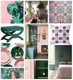 Interior Design For Living Room Pink Green Bedrooms, Bedroom Green, Green Rooms, Gray Interior, Interior Design Living Room, Interior Ideas, Nordic Interior, Cafe Interior, Interior Paint