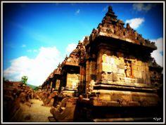 Plaosan Lor Temple in Yogyakarta, Indonesia. Plaosan Temple was built in the mid 9th century by Sri Kahulunnan or Pramodawardhani.