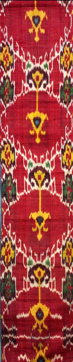 Ikat length with red medallions. Central Asian Ikats from the Rau Collection | V&A