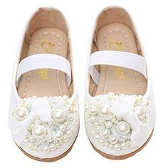 895691799 Amazon.com   Girl's Round Toe Mary Jane Ballet Flat Flower Girl Dance Dress  Shoes   Shoes