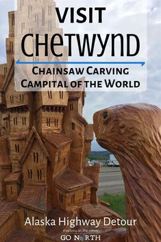 The vibrant and charming town of Chetwynd, BC is covered with over 150 of these massive chainsaw carvings - the products of an annual International Chainsaw Carving Competition each June! Come see these amazing works of art for yourself! Abstract Sculpture, Bronze Sculpture, Wood Sculpture, Alaska Highway, Frank Morrison, Maori Art, Henry Moore, Chainsaw Carvings, Ice Sculptures
