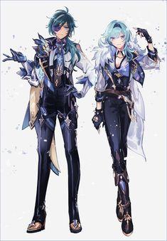 Fantasy Characters, Anime Characters, Anime Manga, Anime Guys, Kleidung Design, Albedo, Art Reference Poses, Anime Outfits, Animes Wallpapers