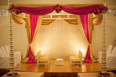 indian wedding mandap decor www. Wedding Mandap, Wedding Stage, Red Wedding, Floral Wedding, Wedding Venues, Wedding Backdrops, Wedding Ideas, Indian Wedding Cakes, Indian Wedding Couple